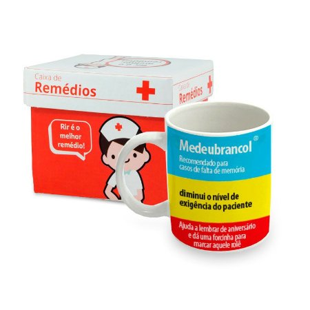 Caneca de Porcelana Remédio Medeubrancol