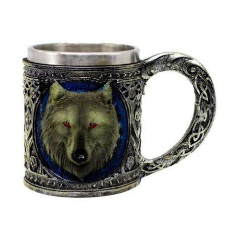 Caneca Inox Resina Lobo Game Of Thrones