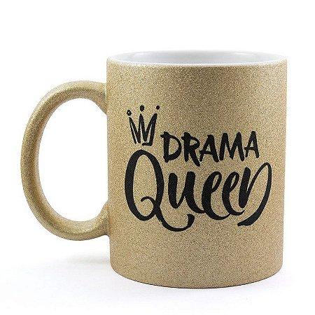 Caneca Personalizada Glitter Bronze Drama Queen