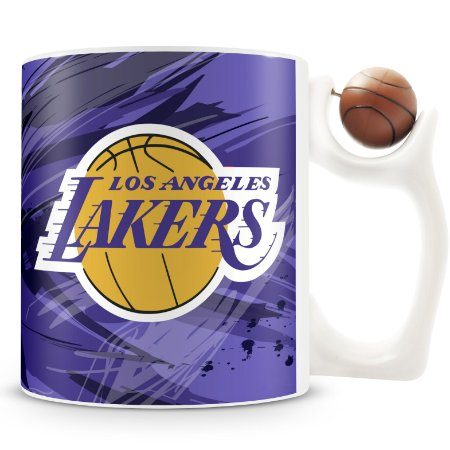 Caneca Alça Bola Personalizada Lakers (Basquete)