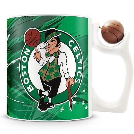 Caneca Alça Bola Personalizada Celtics (Basquete)