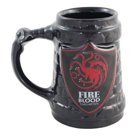 Caneca de Cerâmica Game of Thrones Escudo Targaryen