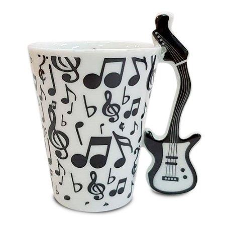 Caneca Formato 3D Alça Guitarra