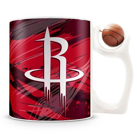 Caneca Alça Bola Personalizada Houston Rockets (Basquete)