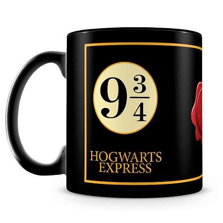 Caneca Personalizada Hogwarts Express (100% Preta)