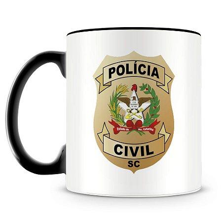 Caneca Personalizada Polícia Civil de Santa Catarina (Com Nome)