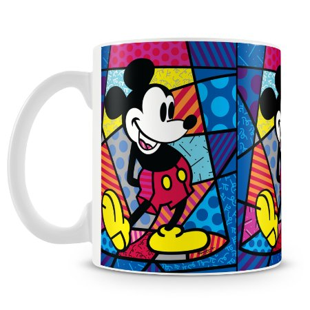 Caneca Personalizada Porcelana Romero Britto Mickey