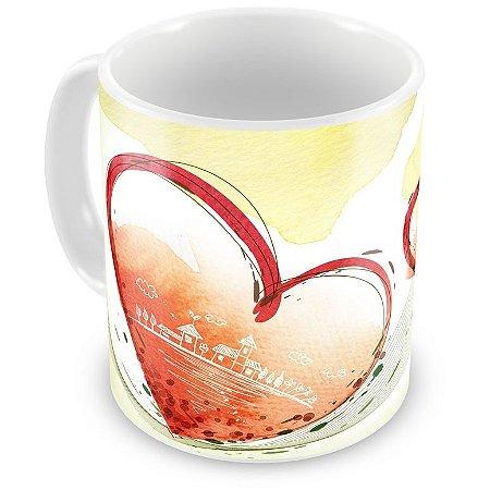 Caneca Personalizada Porcelana Aquarela de Sentimentos