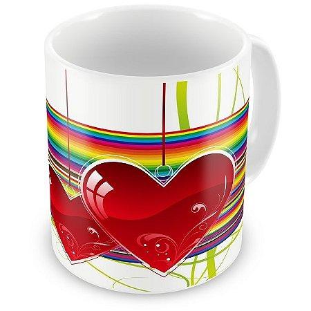 Caneca Personalizada Porcelana Amor em Todas as Cores