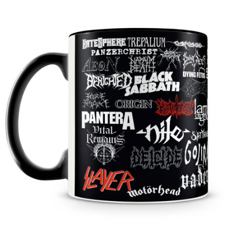 Caneca Personalizada Bandas Clássicas do Heavy Metal