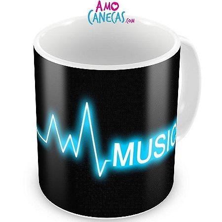 Caneca Personalizada Porcelana Eletrocardiomusic