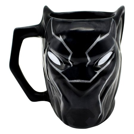 Caneca Formato 3D Pantera Negra