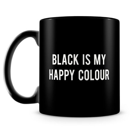 Caneca Personalizada Black is my Happy Colour (100% Preta)
