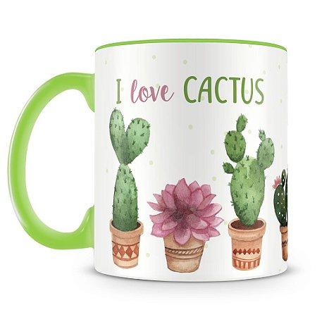 Caneca Personalizada I love Cactus