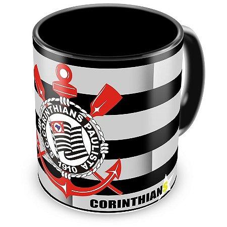 Caneca Personalizada Porcelana Corinthians Futebol Clube Preta (Mod.1)