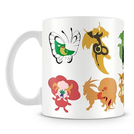 Caneca Personalizada Porcelana Evoluções Pokémon