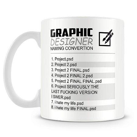 Caneca Personalizada Graphic Designer