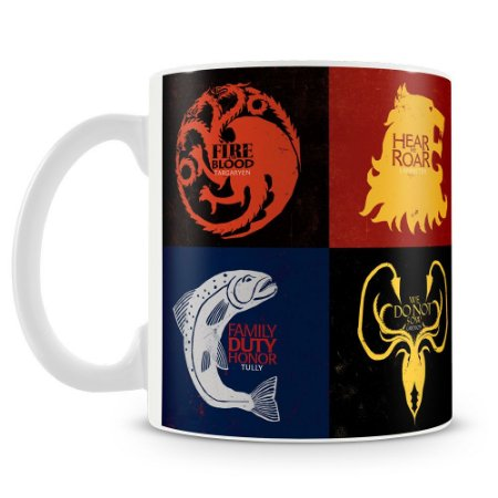 Caneca Personalizada Familias Game Of Thrones (Mod.1)