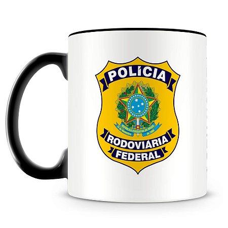 Caneca Personalizada Polícia Rodoviária Federal (Com Nome)