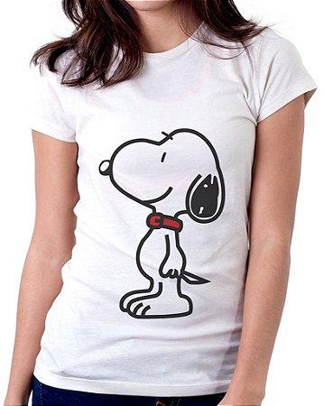 Camiseta Feminina Baby Look Personalizada Estampa Snoopy
