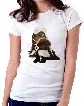 Camiseta Feminina Baby Look Personalizada Estampa Minion Assassin Creed