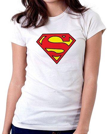 Camiseta Feminina Baby Look Personalizada Estampa Super Girl
