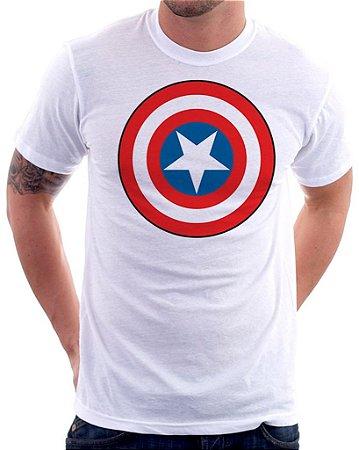 Camiseta Masculina Personalizada Estampa Capitão América