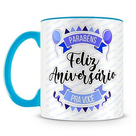Caneca Personalizada Aniversário - Azul