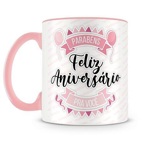 Caneca Personalizada Aniversário - Rosa