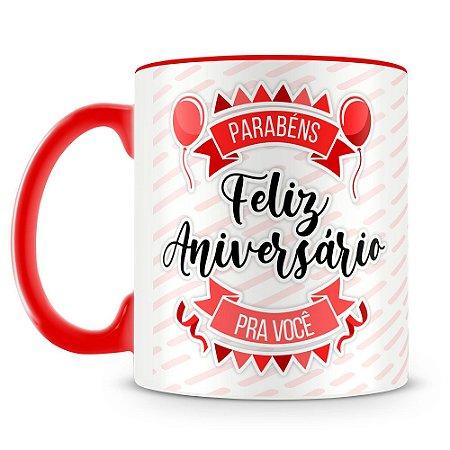 Caneca Personalizada Aniversário - Vermelha