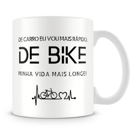Caneca Personalizada Bike Vida Longa