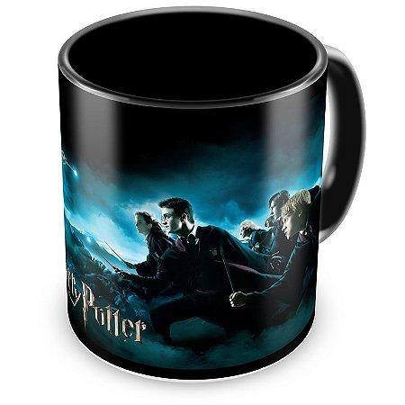 Caneca Personalizada Porcelana Harry Potter (Preta)