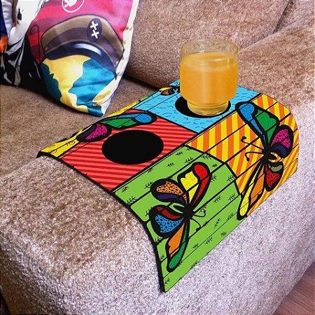Esteira Bandeja Flexível para sofá - Colorida