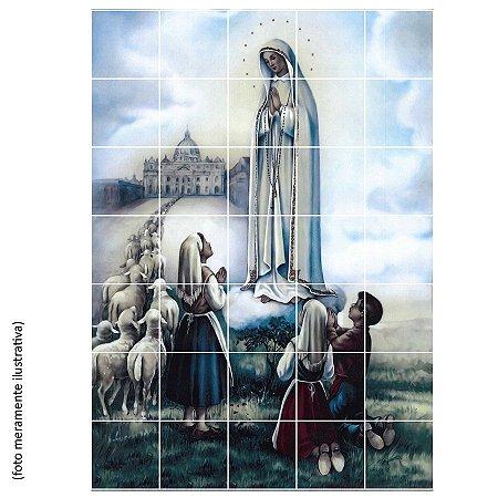 Mosaico de 35 Azulejos - Nossa Senhora de Fátima