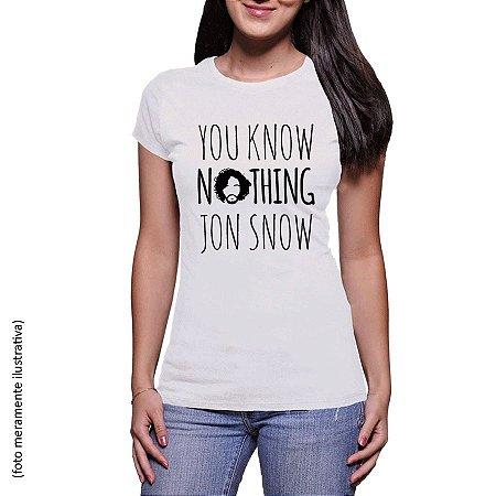 Camiseta You know nothing Jon Snow