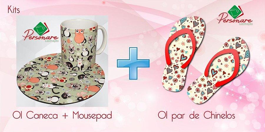 Caneca + Mousepad + Chinelo