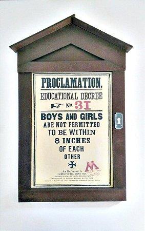 Placa proclamação de regras em Hogwarts