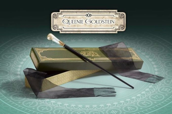 Varinha Queenie Goldstein Original Noble Collection