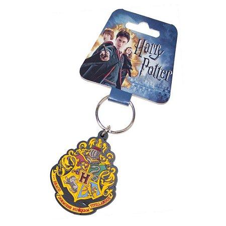 Chaveiro - Brasão de Hogwarts emborrachado Harry Potter Importado