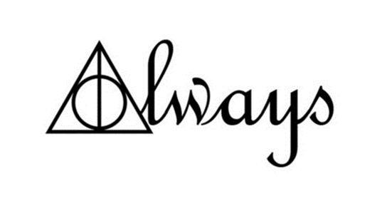 Tatuagem Harry Potter Always