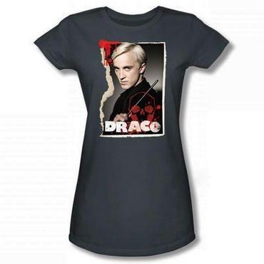 Exclusiva Camiseta Feminina Cinza Draco Malfoy Original Harry Potter
