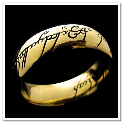 Anel Senhor dos Anéis - Versão com escrita - não acompanha colar