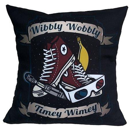 Almofada Dr Who Wibbly Wobbly Timey Wimey