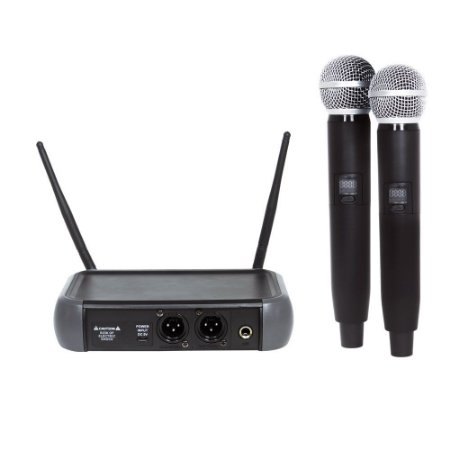 Microfone UHF Multi frequencia PLL com 2 bastoes - LM-258U-PLL - Lexsen