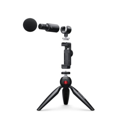 Kit de video + Microfone estereo digital e acessorios - MV88 - Shure