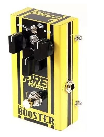 Pedal Fire Power Booster Guitarra Efeito