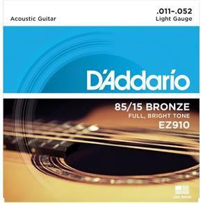 Jogo De Cordas Para Violão Aço 011 Daddario Ez910 Original