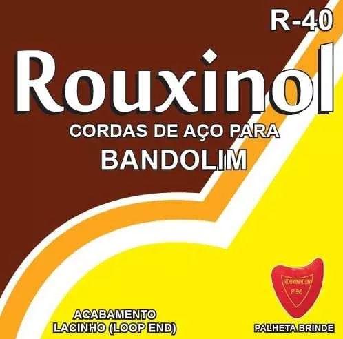 Encordoamento Rouxinol Para Bandolim R40 Cordas De Aço + Palheta Brinde
