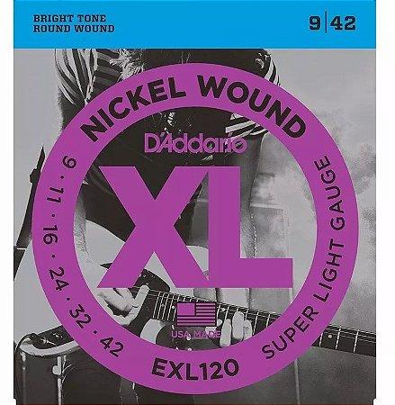 Encordoamento Daddario Para Guitarra Aço 09/42 Exl120b