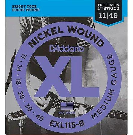 Encordoamento Daddario Para Guitarra Cordas 011 Exl115-b